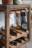 Ouseburn solid Wood Wine Rack With Hairpin Legs
